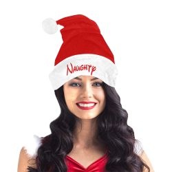 Christmas Naughty (Red and White) Santa Hat