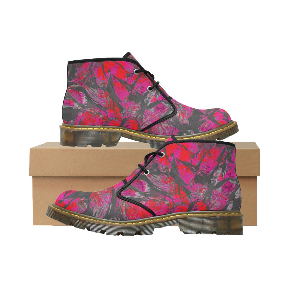 Pink Dirty Crew Unit Women's Nubuck Chukka Boots (Model 2402)