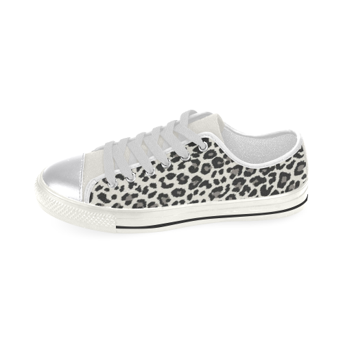 leopard Women's Classic Canvas Shoes (Model 018)