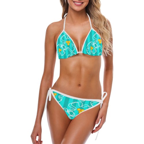 Flowers Custom Bikini Swimsuit (Model S01)