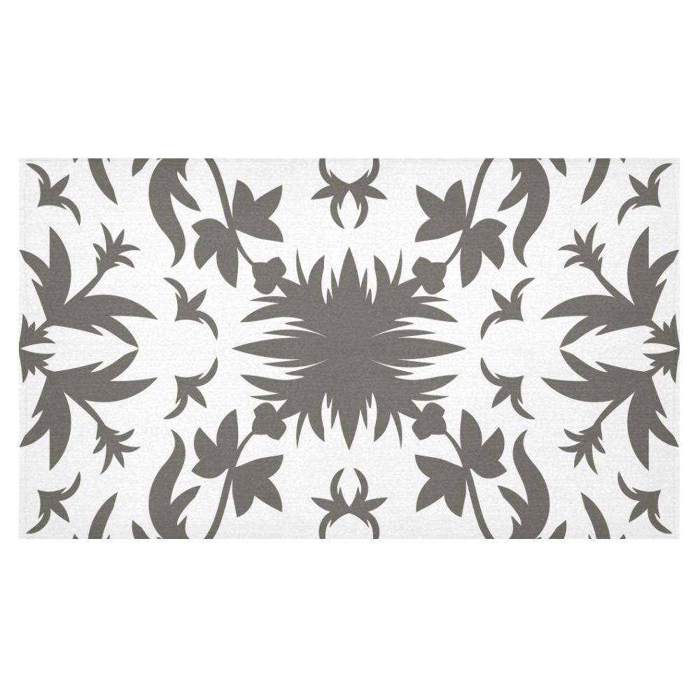 """floral damask Cotton Linen Tablecloth 60""""x 104"""""""