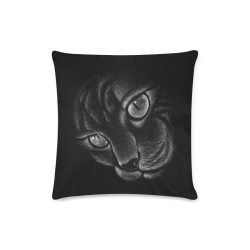 """Midnight Black Witches Cat Custom Zippered Pillow Case 16""""x16""""(Twin Sides)"""