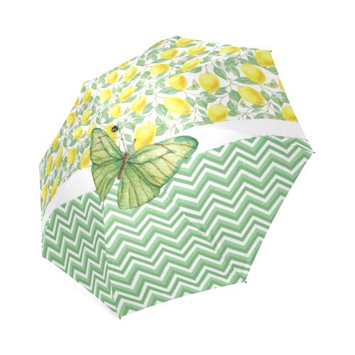 Butterfly And Lemons Foldable Umbrella (Model U01)