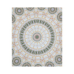 "Peace Mandala Cotton Linen Wall Tapestry 51""x 60"""