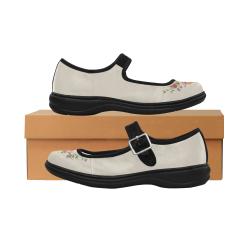 Mary Jane Shoes - Peony Mila Satin Women's Mary Jane Shoes (Model 4808)