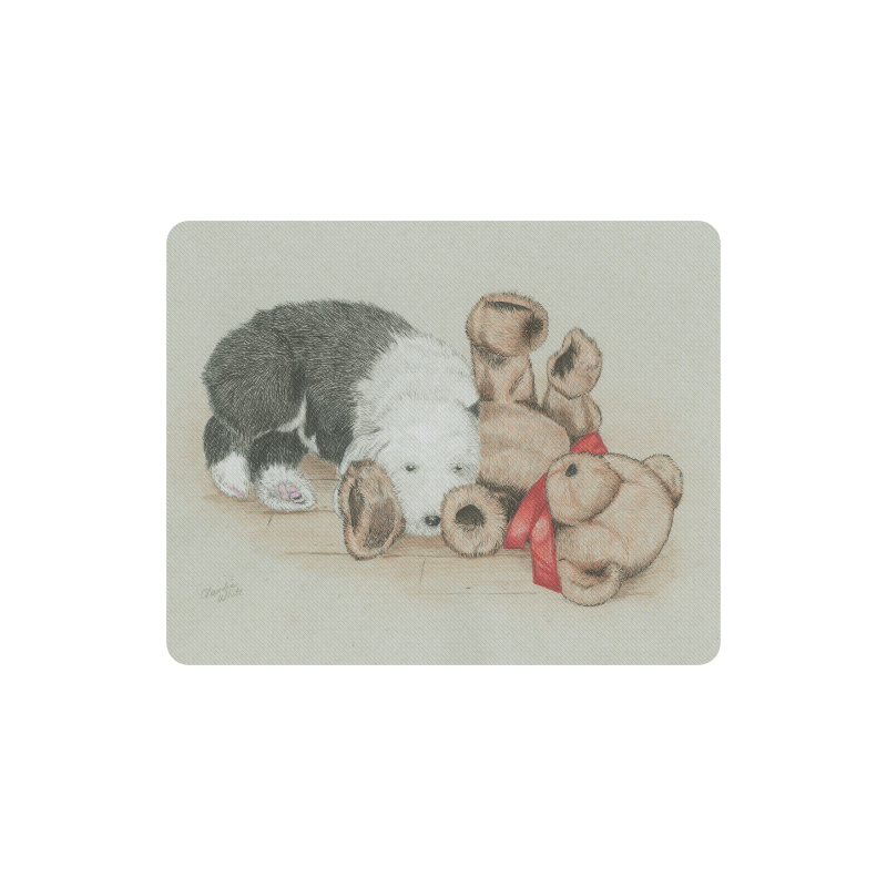 Sleepytime with Teddy Rectangle Mousepad