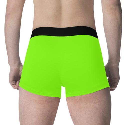 color chartreuse Men's All Over Print Boxer Briefs (Model L34)