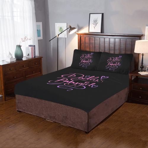 Daddy's Babygirl 3-Piece Bedding Set