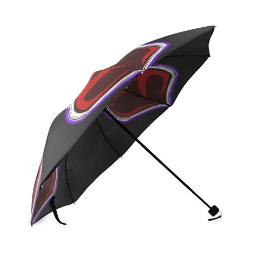 Sacred Triple Heart Umbrella Foldable Umbrella (Model U01)
