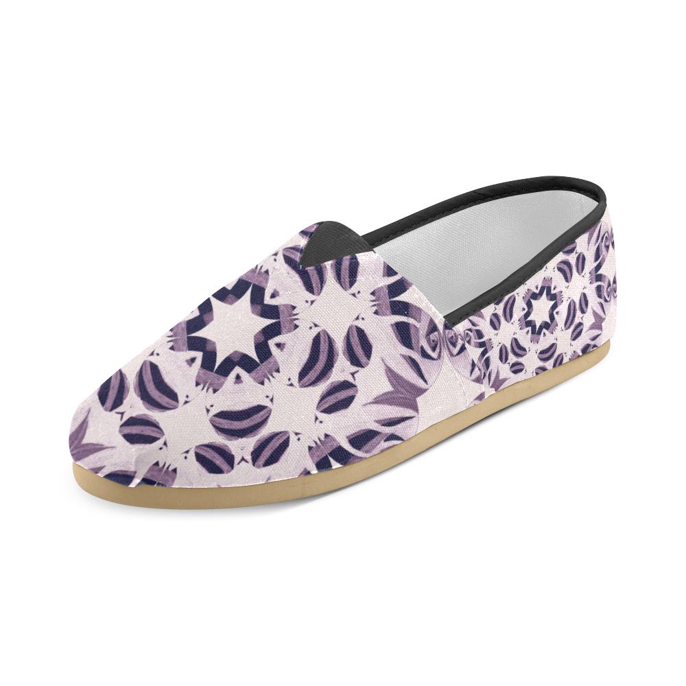 Light Violet Geometric Star Ornament Unisex Casual Shoes (Model 004)