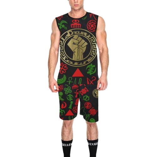 ADINKRA RVLTN All Over Print Basketball Uniform