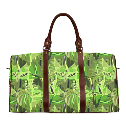 Tropical Jungle Leaves Camouflage Waterproof Travel Bag/Large (Model 1639)