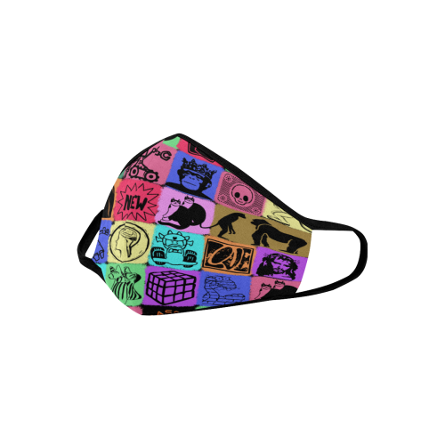 MIX PICTURES 3D MASK Mouth Mask in One Piece (2 Filters Included) (Model M02)