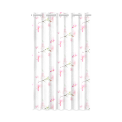 """Pattern Orchidées New Window Curtain 50"""" x 84""""(One Piece)"""