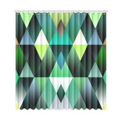 "Dark Mosaic Shine 3 Window Curtain 50""x108""(Two Piece)"