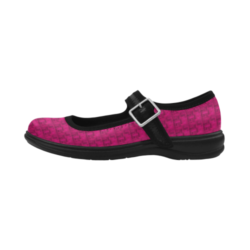 Stylish Satin Deep Pink Virgo Instep Deep Mouth Shoes