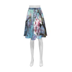Cherry blossomL Athena Women's Short Skirt (Model D15)