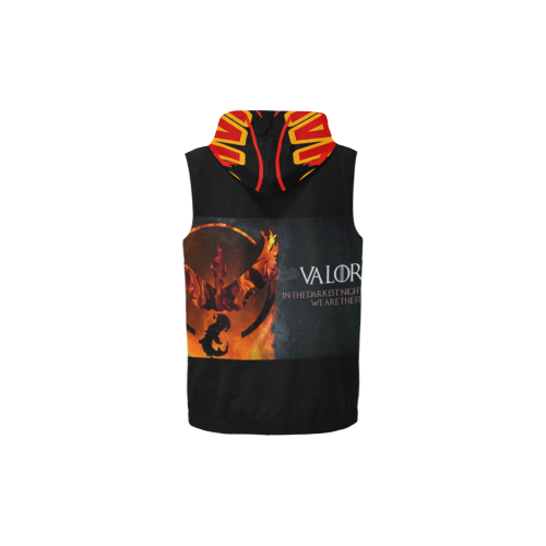 Valor 88 All Over Print Sleeveless Zip Up Hoodie for Kid (Model H16)