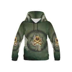 Skull in a hand All Over Print Hoodie for Kid (USA Size) (Model H13)