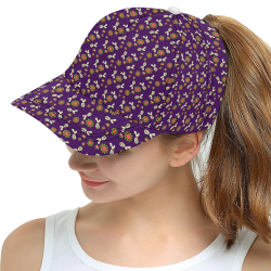 clown ghost pattern purple All Over Print Snapback Hat D