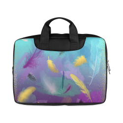 """Dancing Feathers - Turquoise and Purple Macbook Air 15""""(Twin sides)"""