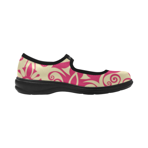Red Cream Modern Swirl Virgo Instep Deep Mouth Shoes
