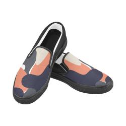 Modern Pattern 5 Women's Unusual Slip-on Canvas Shoes (Model 019)