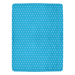 "Polka Dot Pin SkyBlue - Jera Nour Ultra-Soft Micro Fleece Blanket 60""x80"""