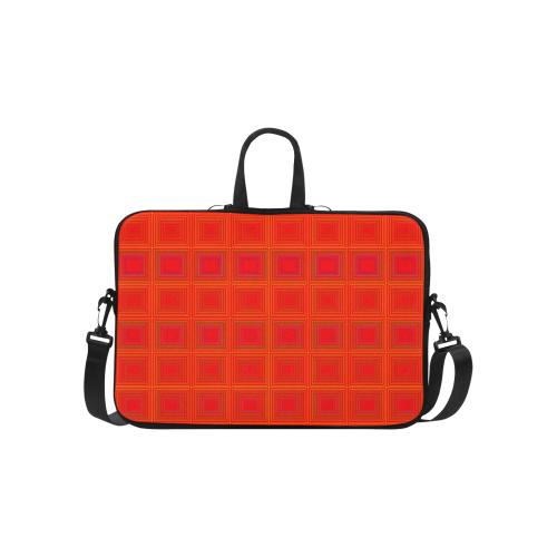 "Red orange multicolored multiple squares Classic Sleeve for 15.6"" MacBook Air"