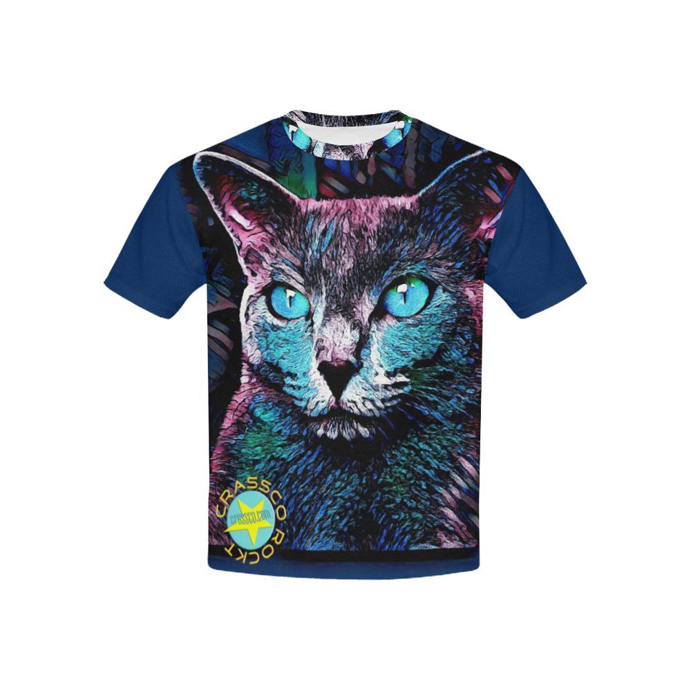 BLUE CAT ART CRASSCO Kids' All Over Print T-shirt (USA Size) (Model T40)