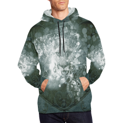 White lion All Over Print Hoodie for Men (USA Size) (Model H13)