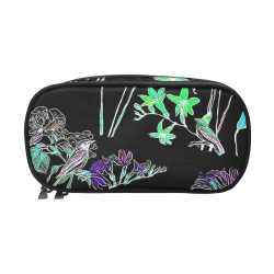 Flowers and Birds C by JamColors Pencil Pouch/Large (Model 1680)