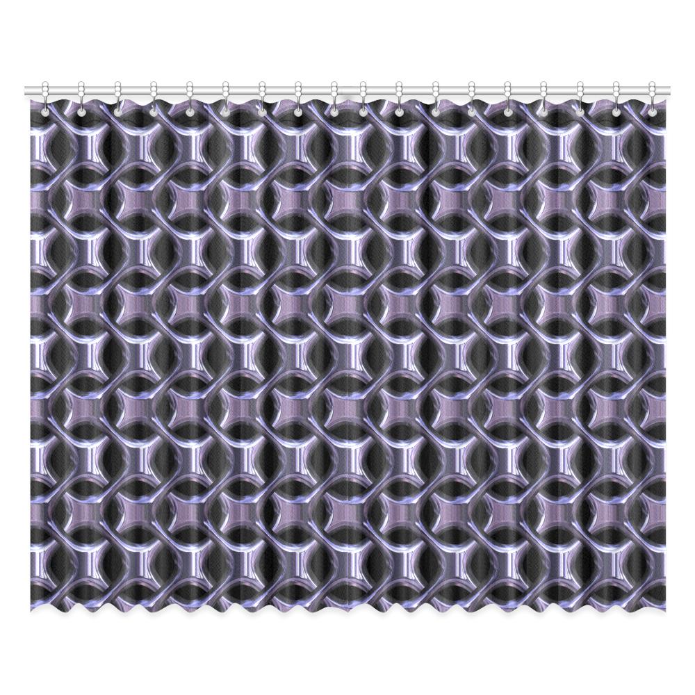 """Shiny metal braid Window Curtain 52""""x84""""(Two Pieces)"""