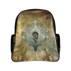 Awesome tribal dragon Multi-Pockets Backpack (Model 1636)
