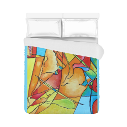 "ABSTRACT NO 1 Duvet Cover 86""x70"" ( All-over-print)"