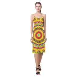 Blooming mandala Alcestis Slip Dress (Model D05)