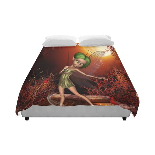 "Cute little fairy Duvet Cover 86""x70"" ( All-over-print)"