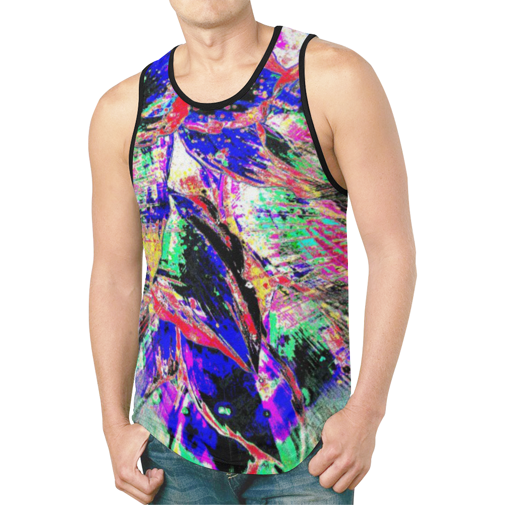 wheelVibe2_8500 78 low low low New All Over Print Tank Top for Men (Model T46)