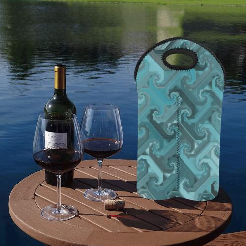 tealsteel 2-Bottle Neoprene Wine Bag