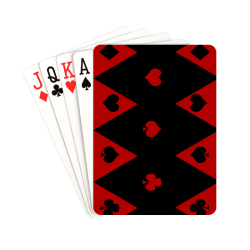 "Las Vegas Black Red Play Card Shapes Playing Cards 2.5""x3.5"""