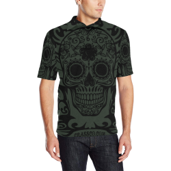SKULL TRIBAL LUXURY POLO V Men's All Over Print Polo Shirt (Model T55)
