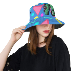 90's Dino party All Over Print Bucket Hat