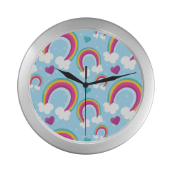 Rainbow Sky Silver Color Wall Clock