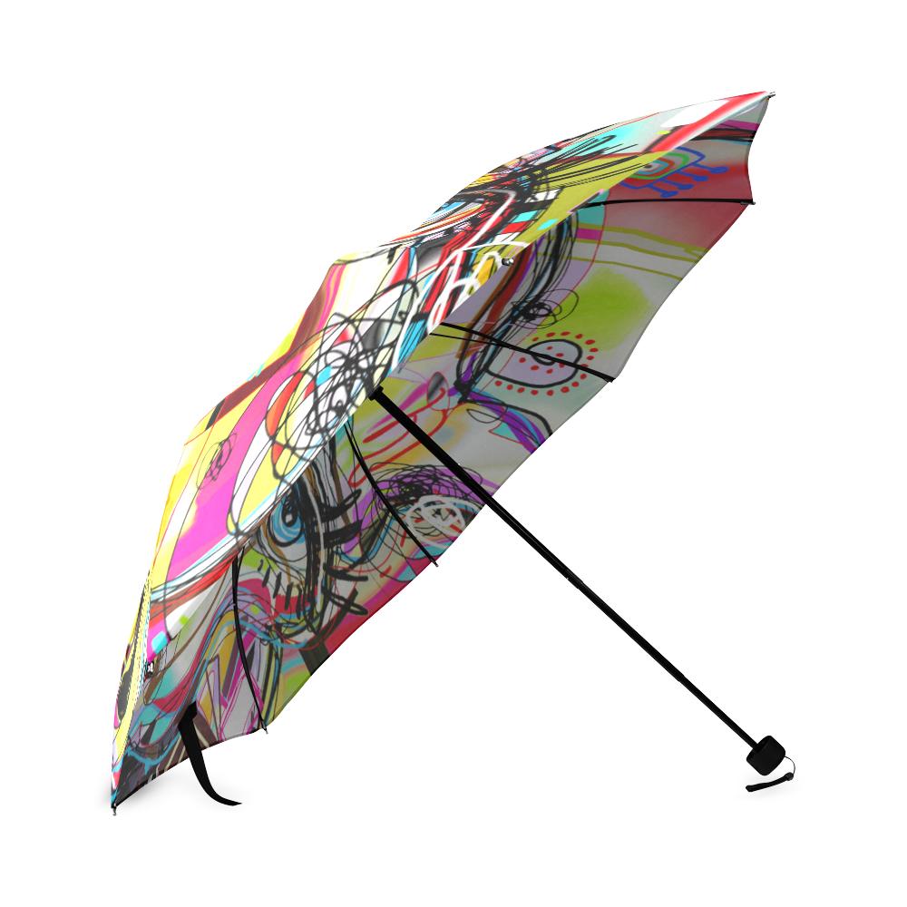 Graffiti Llama Foldable Umbrella (Model U01)