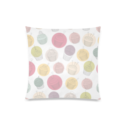 """Colorful Cupcakes Custom Zippered Pillow Case 20""""x20""""(Twin Sides)"""