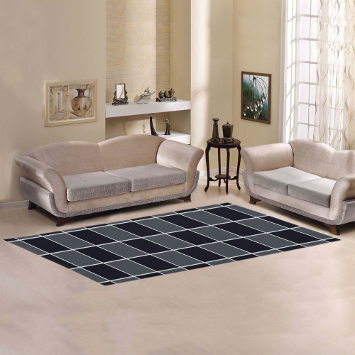 Square Patch Area Rug 10'x3'3''