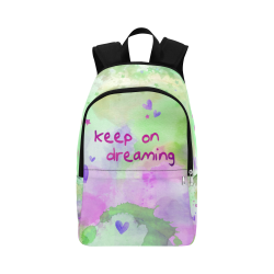 KEEP ON DREAMING - lilac and green Fabric Backpack for Adult (Model 1659)