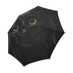Black Cat Semi-Automatic Foldable Umbrella (Model U05)