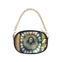 Awesome scary skull Chain Purse (Model 1626)