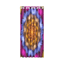"Fractal flash New Window Curtain 50"" x 108""(One Piece)"